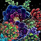 Succulent Chiaroscuro (gouache) by delicatesketch