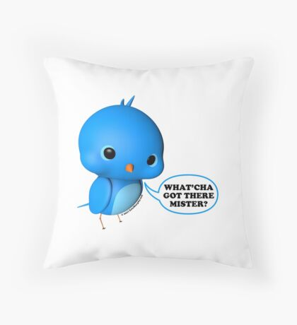 B.B. Bottoms - What'cha Got There Mister?!? Throw Pillow