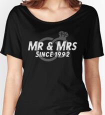 Mr & Mrs Since 1992 - 25th Wedding Anniversary Gift Ideas Women's Relaxed Fit T-Shirt