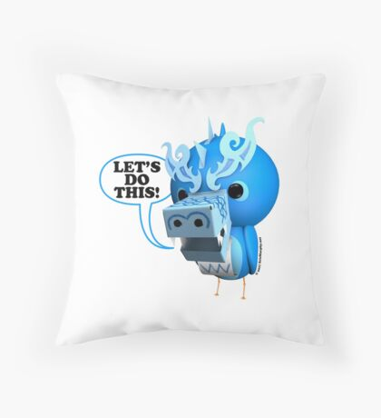 B.B. Dragons - Let's Do This! Throw Pillow