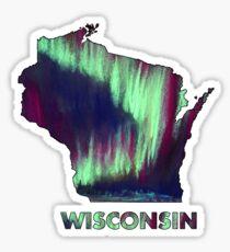 Wisconsin - Northern Lights Sticker