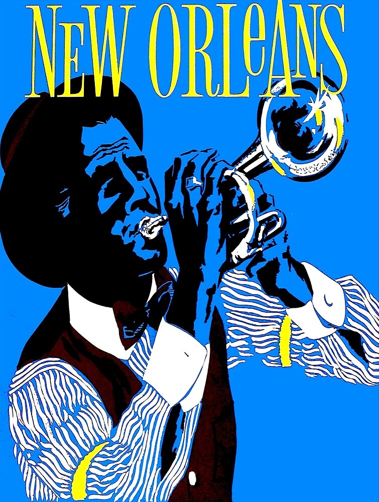 NEW ORLEANS: Vintage Jazz Advertising Print by posterbobs