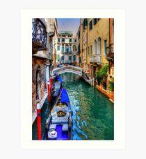 Venedig-Kanal Kunstdruck