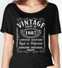 30th Birthday Gift Idea T-Shirt Vintage Made In 1987 Women's Relaxed Fit T-Shirt