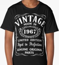 50th Birthday Gift Idea T-Shirt Vintage Made In 1967 Long T-Shirt