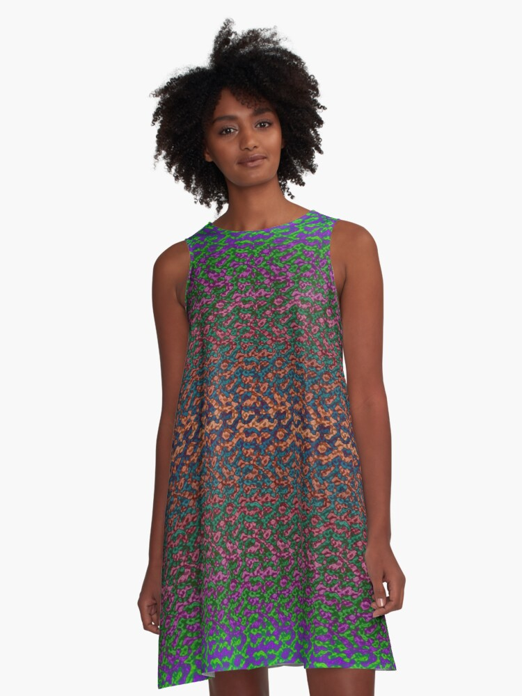 Oil on Water A-Line Dress Front
