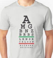 Tuned MB cars Snellen eye test Unisex T-Shirt