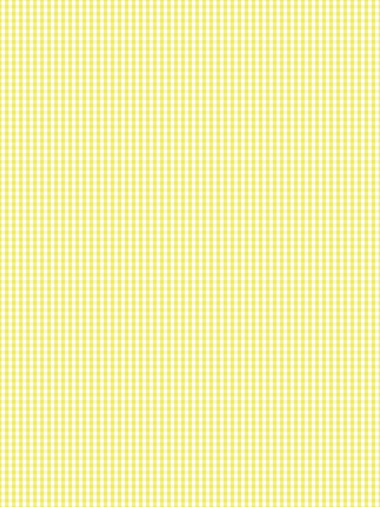 Citron Lemon Gingham Check Tartan by podartist