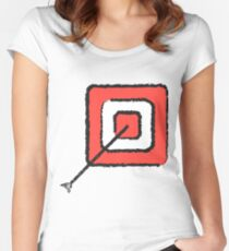 Bullseye Women's Fitted Scoop T-Shirt