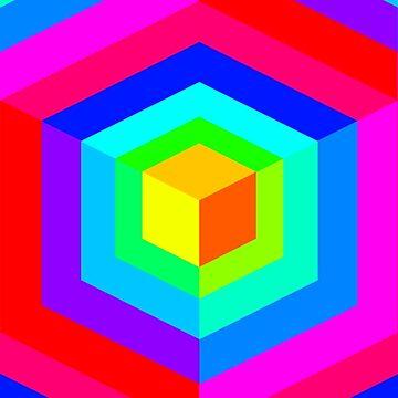 Rainbow Cubica by mikiex