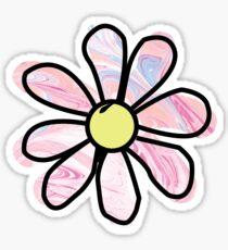 Pink Marble Flower Sticker