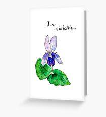 La violette Greeting Card