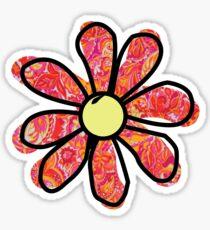Red/Orange Flower Sticker