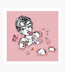 Pink Contemplation Photographic Print