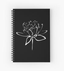 Lotus Flower Calligraphy (White) Spiral Notebook