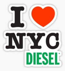I Love NYC Diesel Sticker