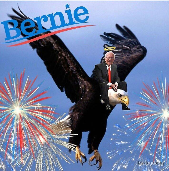 Bernie Sanders on an Eagle by Jordaydayy