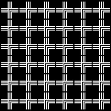 Black and White Grid Pattern by starkle