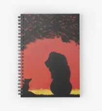 Lion and the Fox Spiral Notebook