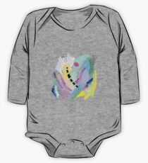 Abstract Painting in Pastel Colors One Piece - Long Sleeve