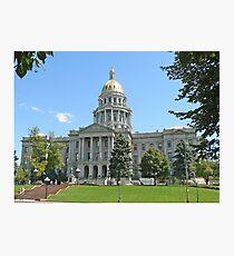 Colorado State Capitol Building, Denver Photographic Print