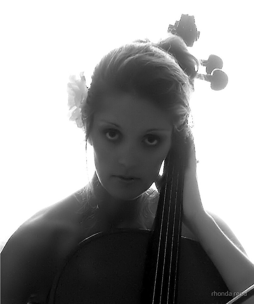 The Cello player by rhonda reed