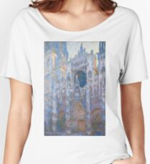 Claude Monet - Rouen Cathedral, West Façade - 1894 Women's Relaxed Fit T-Shirt