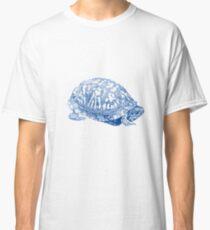 box turtle drawing, blue Classic T-Shirt