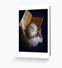 Book Worm Greeting Card