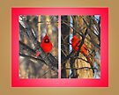 """Cardinals in a """"Crisp"""" Winter Morning (framed for wall art/prints) by TerriRiver"""