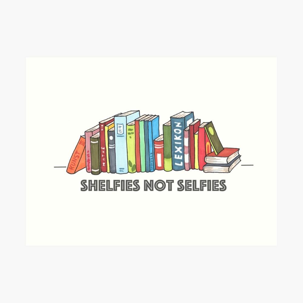 Shelfies No Selfies Lámina artística