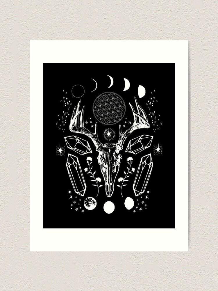 Alternate view of Crystal Moon. Art Print