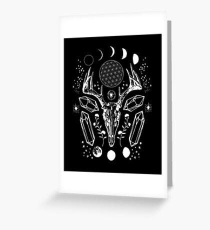 Crystal Moon. Greeting Card