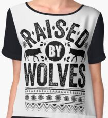 Raised By Wolves {Black + White} Chiffon Top