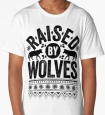Raised By Wolves {Black + White} Long T-Shirt