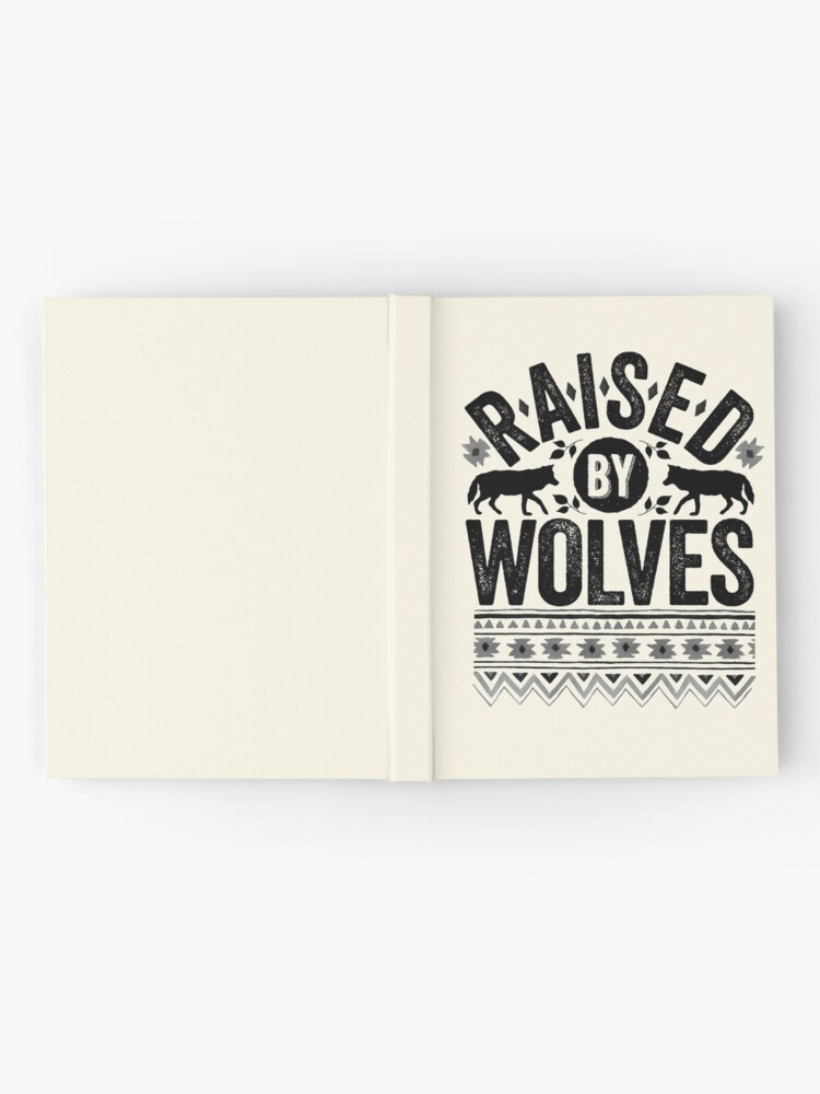 Alternate view of Raised By Wolves {Black + White} Hardcover Journal