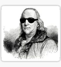 Franklin in Shades Sticker