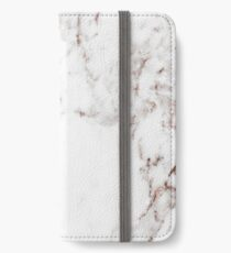 Rose gold vein marble iPhone Wallet/Case/Skin