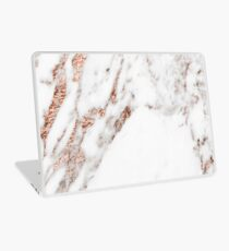 Rose gold vein marble Laptop Skin