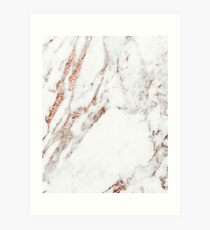 Rose gold vein marble Art Print