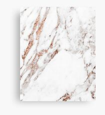 Rose gold vein marble Canvas Print