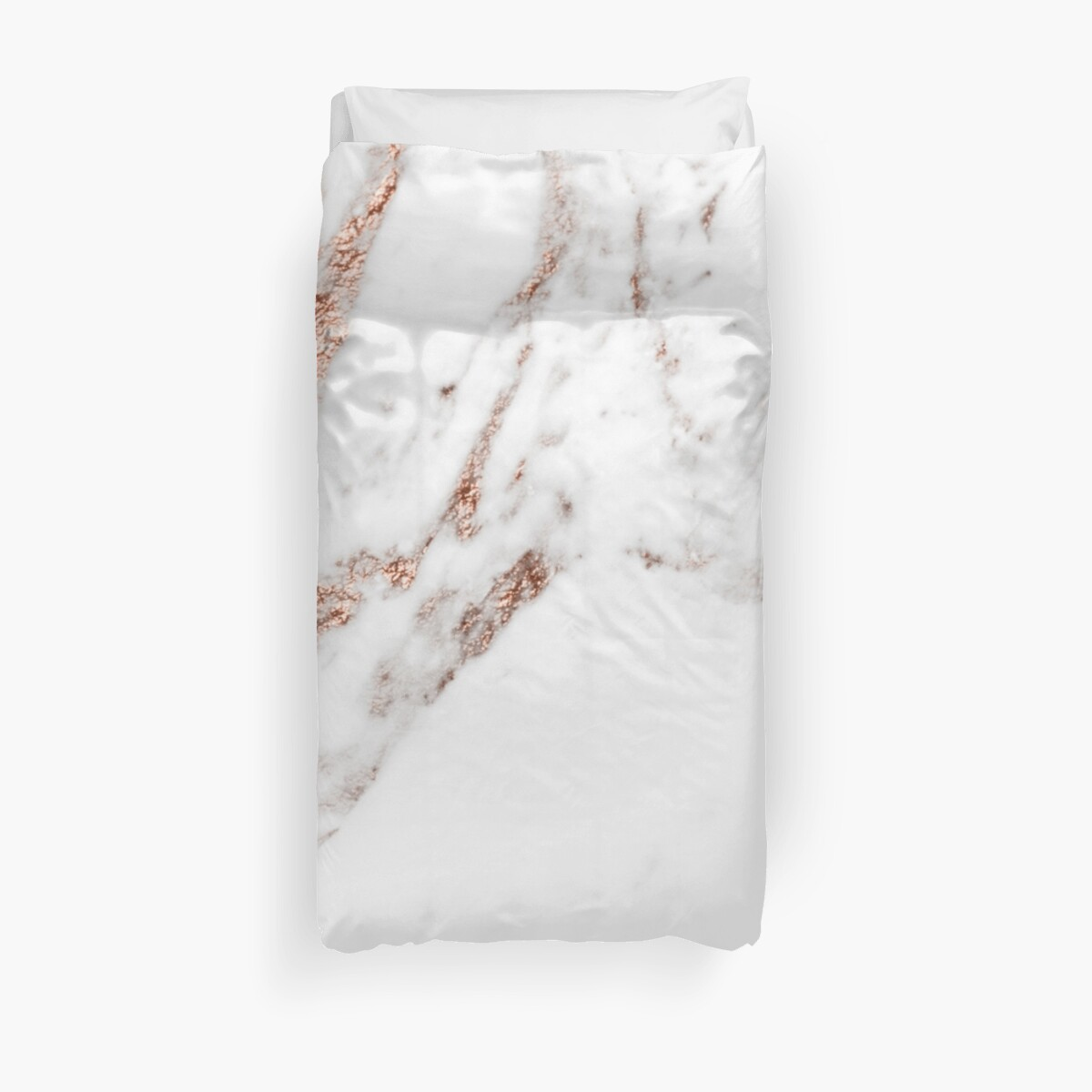 Quot Rose Gold Vein Marble Quot Duvet Covers By Peggieprints