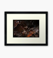 Rusted Rocks Framed Print