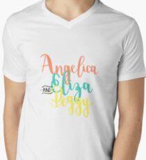 ARBEIT! T-Shirt mit V-Ausschnitt