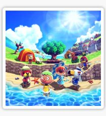 Beach Life - Animal Crossing Sticker