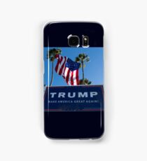 Donald Trump Campaign Sign with Huge USA Flag Samsung Galaxy Case/Skin