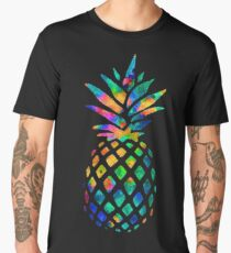 Rainbow Pineapple Men's Premium T-Shirt