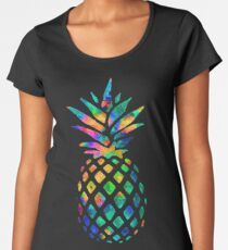 Rainbow Pineapple Women's Premium T-Shirt