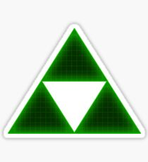 Green Triforce Sticker