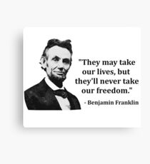 Abraham Lincoln Troll Quote Canvas Print